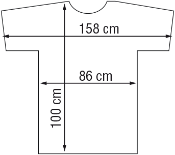 Kapmantel Zwart Flexi Velcro-2