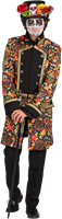 Sugar Skull Kleurrijke Heren jas Maat M-2