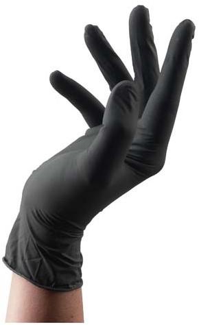 Latex Handschoenen Zwart Maat L