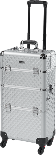 Zilver Diamant Look Make-up Trolley