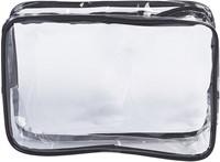 Toilettas transparant zwarte rand