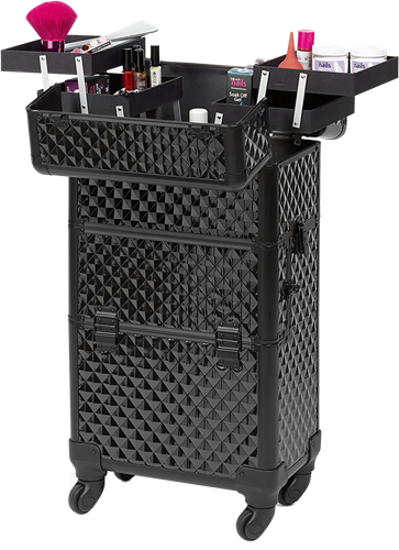 Zwart Diamant Look Make-up Trolley-3