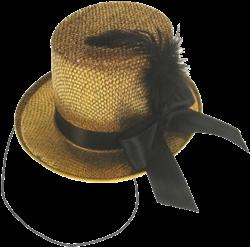 Midi hoed glitter goud