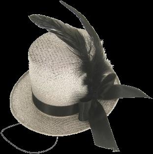 Midi hoed glitter zilver