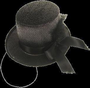 Midi hoed glitter zwart