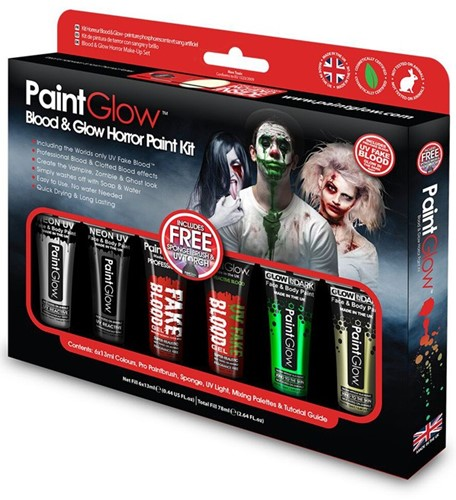 Paintglow Blood en Glow Horror Paint Kit