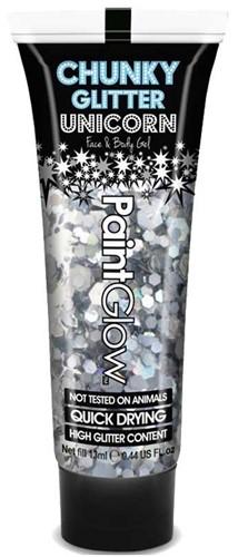 Paintglow Chunky Glitter Gel Zilver