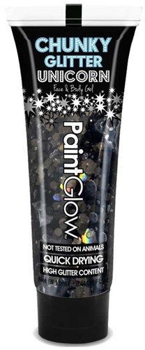 Paintglow Chunky Glitter Gel Zwart