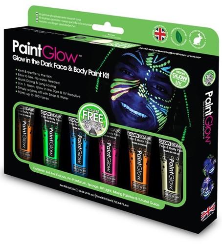 Paintglow Glow in the dark Face en Body Paint Kit