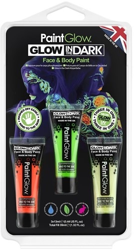 Paintglow Glow in the dark Face en Body Paint Set