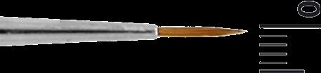 Grimas Penseel Rood Marterhaar Rond MR1-10