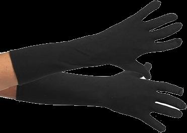 Pieten Handschoenen Zwart lang XXL