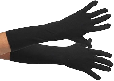 Pieten Handschoenen Zwart Lang XS