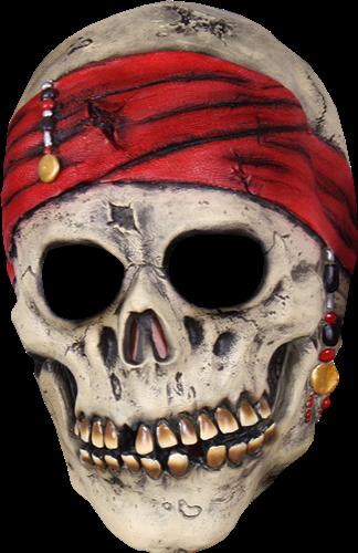 Halloween Piraten skull latex masker