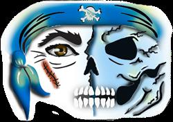 Piraten Masker Schmink Sjabloon