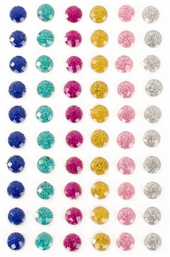 Plaksteentjes Glitter Rondjes 60 stuks