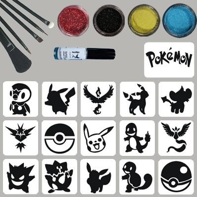 Pokemon Glittertattoo Set