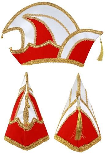 Prinsenmuts rood wit maat 63