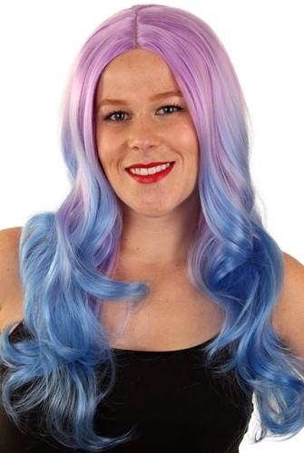 Pruik Lexi Lila Blauw lang haar
