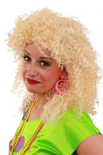 Pruik Nicky Blond krullen
