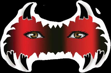 Raptor Kids Masker Schmink Sjabloon-2