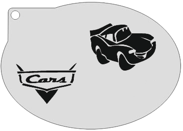 Schminksjabloon Cars