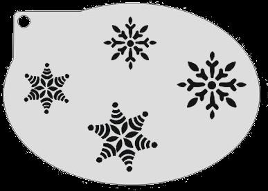 Schminksjabloon Sneeuwsterren