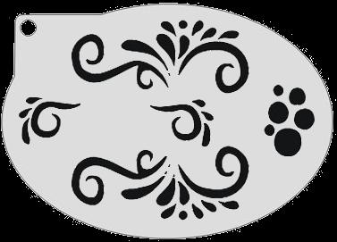 Schminksjabloon Twirls