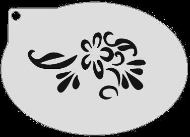 Schminksjabloon Bloem met Krul