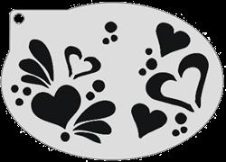 Schminksjabloon Harten