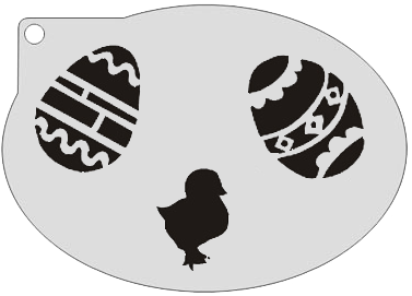 Schminksjabloon Paasei en Kuiken