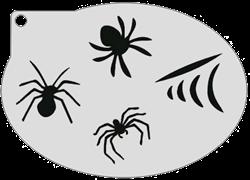 Schminksjabloon Spinnen