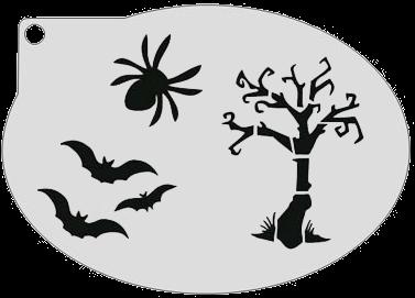 Sjabloon Halloween.Schminksjabloon Sterhalloween