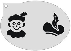 Schminksjabloon Piet