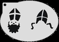 Schminksjabloon Sint