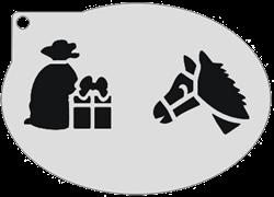 Schminksjabloon Pakje en Paard