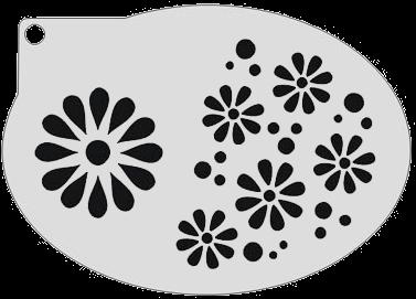Schminksjabloon Krullen en Sterren
