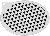 Schminksjabloon Driehoekjes