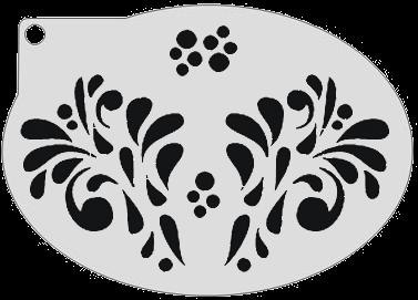 Schminksjabloon Sierlijke Druppels