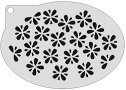 Schminksjabloon Bloemetjes
