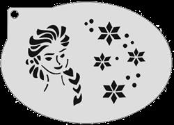 Schminksjabloon Elsa met IJskristallen