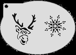 Schminksjabloon Frozen Sven IJskristal