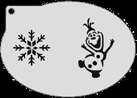 Schminksjabloon Frozen Olaf IJskristal