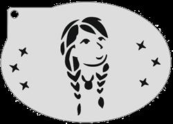 Schminksjabloon Frozen Anna