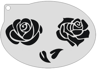 Schminksjabloon Rozen