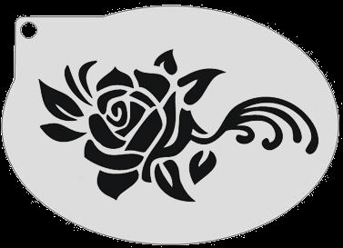 Schminksjabloon Roos