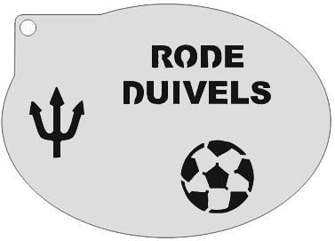 Schminksjabloon Rode Duivels