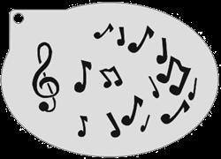 Schminksjabloon Muzieknoten