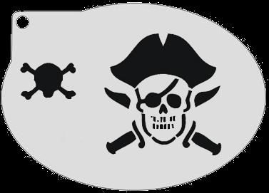 Schminksjabloon Piraat