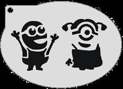 Schminksjabloon Minions Bob & Stuart Meisje